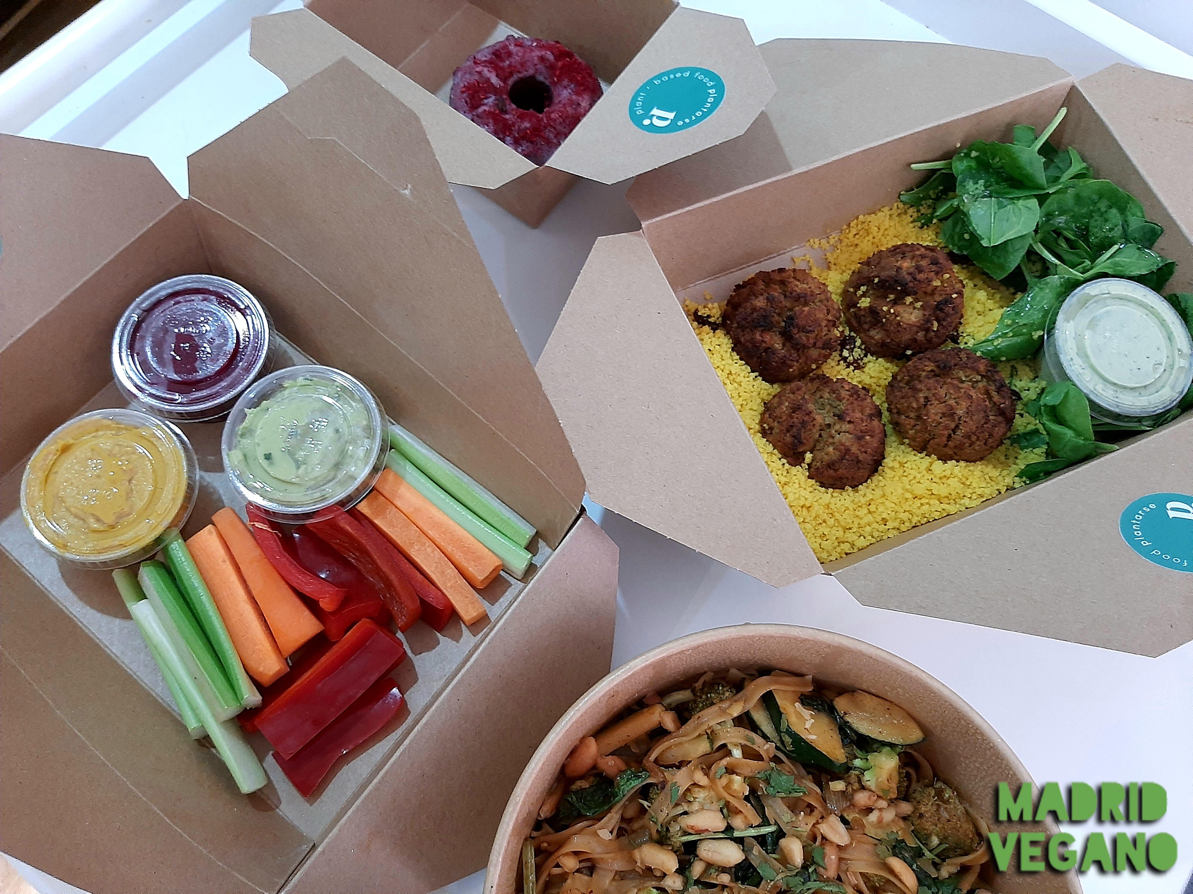 Plantarse, sana, sabrosa y colorida comida vegana a domicilio