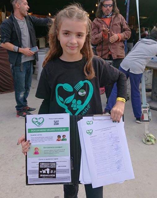 """Noelia Estraviz, de FEUMVE: """"Queremos un comedor escolar vegano inclusivo y de calidad"""""""