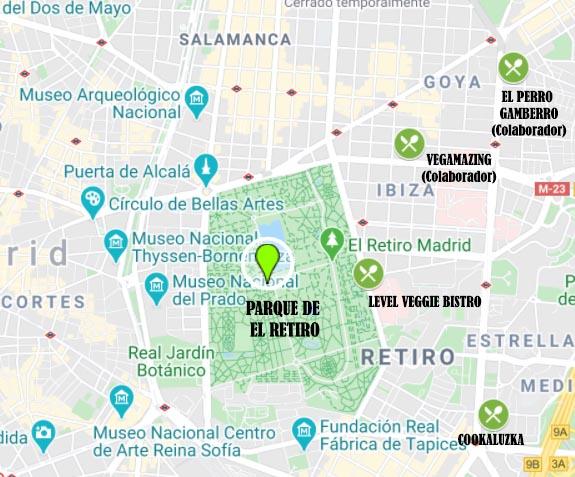 Pícnic vegano en parques del centro de Madrid