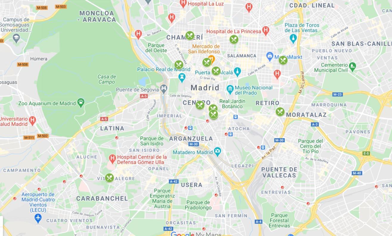 Guía de la ruta de la tortilla vegana en Madrid