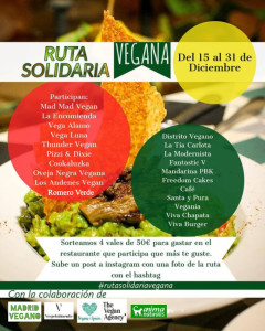 Guía de la ruta solidaria vegana en Madrid