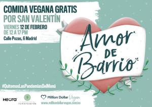 Million Dollar Vegan reparte comida gratis en Malasaña por San Valentín