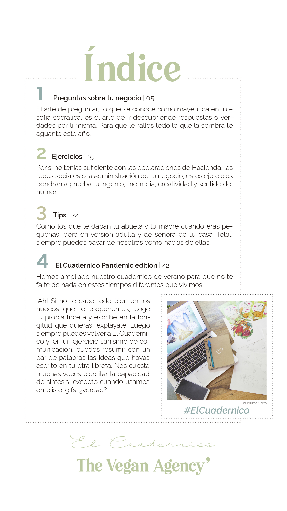 """The Vegan Agency estrena web y presenta una actualización de """"El Cuadernico"""""""