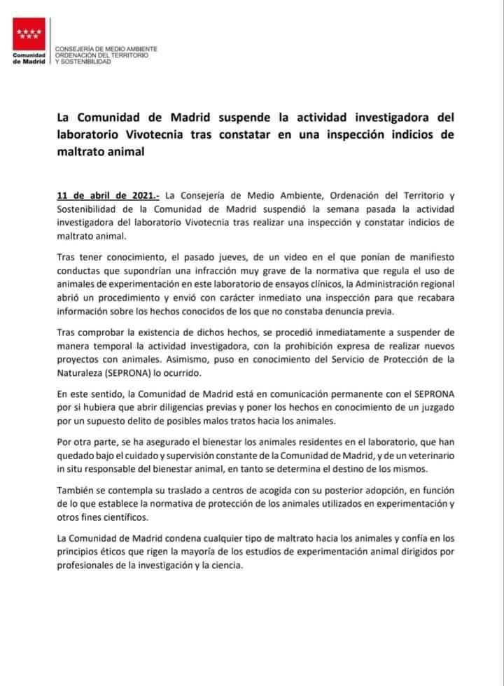 """Cronología de """"rescate Vivotecnia"""""""
