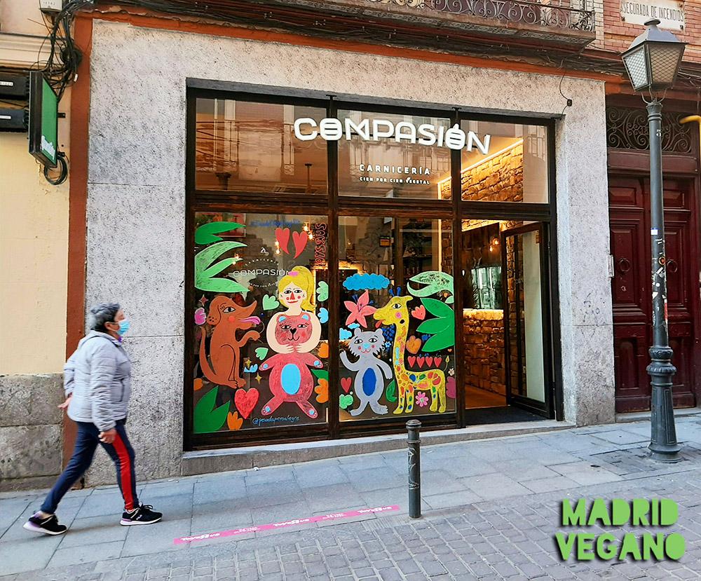 Compasión, una carnicería vegana en el centro de Madrid