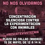 Concentración silenciosa contra la experimentación con animales