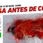 Protesta de bandejas de carne humana en Madrid