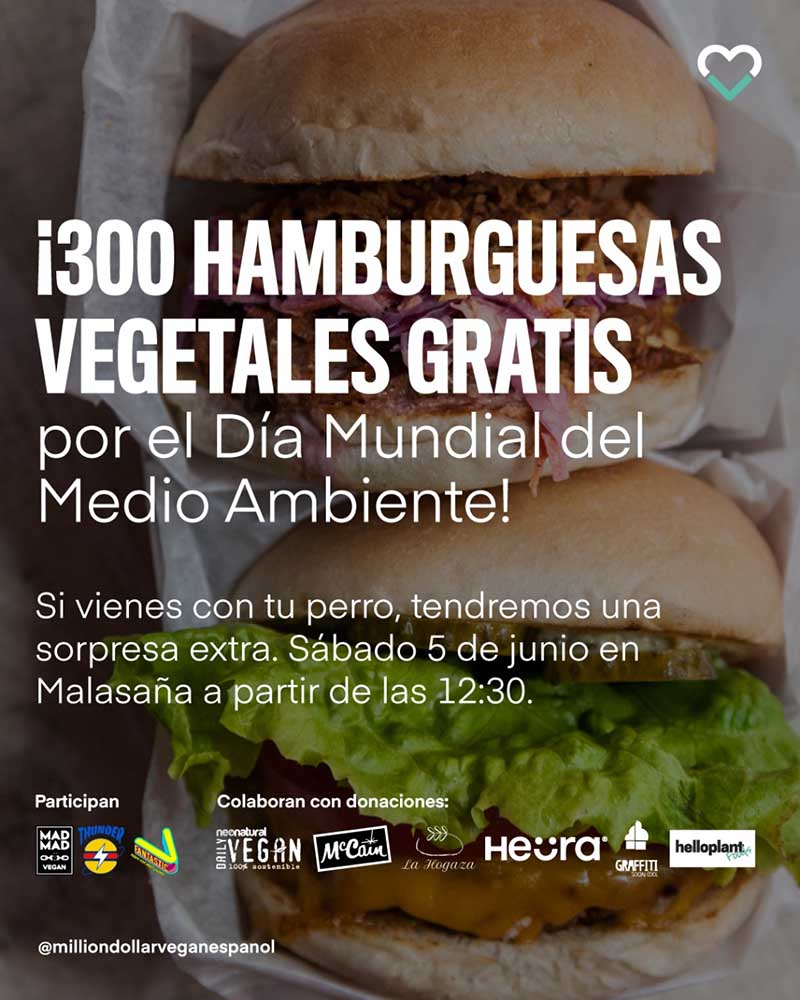 hamburguesas veganas gratis