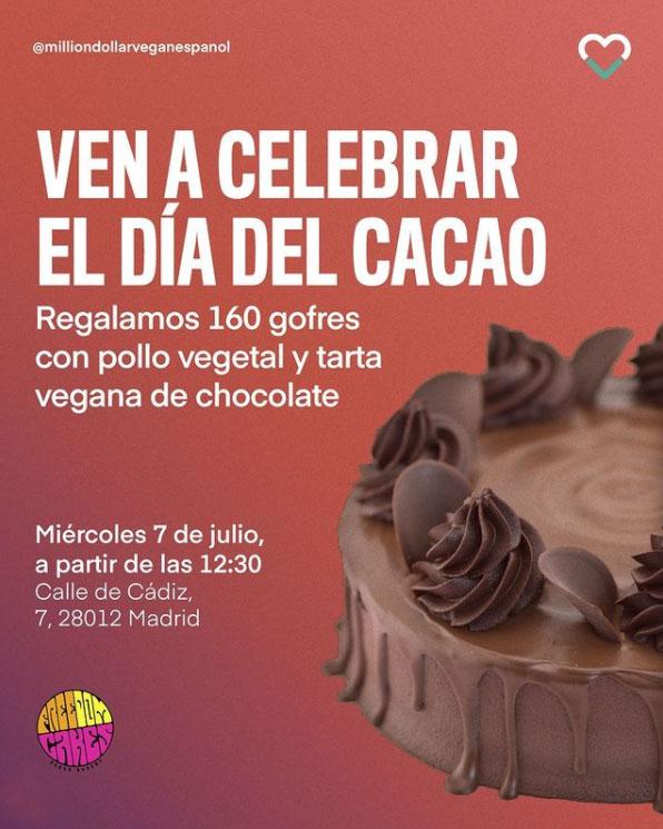 Gofres y tarta de chocolate gratis en el Día del Cacao